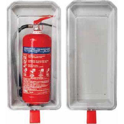 Θήκη πυροσβεστηρα 6kg/6lt διάφανη πλαστική