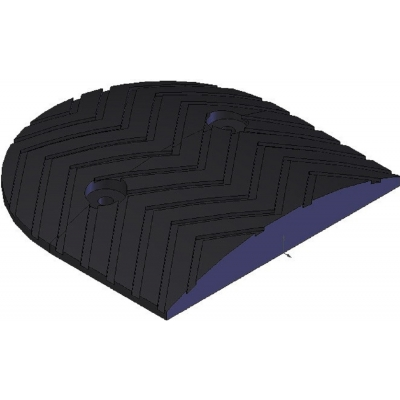 Σαμαράκι ακραίο κομμάτι μαύρο 3,5cm ύψος
