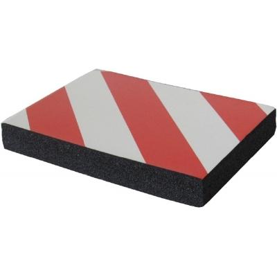 Προστατευτικό τοίχων γκαράζ Αυτοκόλλητο αφρώδες παχύ 3cm με κόκκινες και λευκές ανακλαστικές λωρίδες