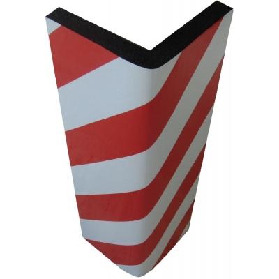 Αυτοκόλλητο αφρώδες προστατευτικό γωνιών και τοίχων γκαράζ με κόκκινες και λευκές ανακλαστικές λωρίδες