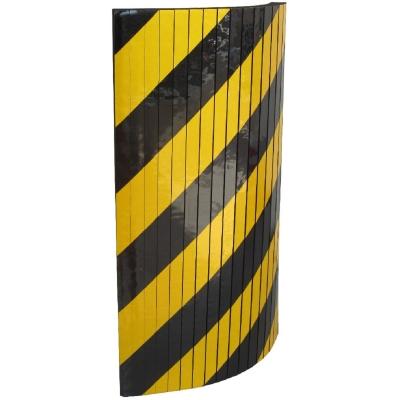 Αυτοκόλλητο αφρώδες προστατευτικό με εγκοπές, με κίτρινες και μαύρες ανακλαστικές λωρίδες