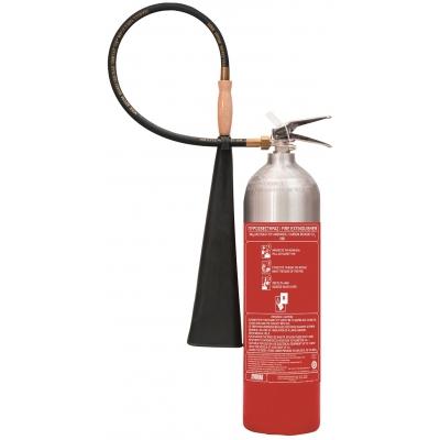 Πυροσβεστήρας 5Kg CO2 Αλουμινίου με INOX Κλείστρο