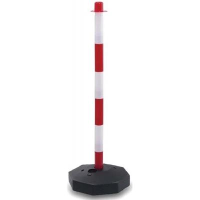 Κολώνα σήμανσης ψηλή δίχρωμη από PVC 90 cm