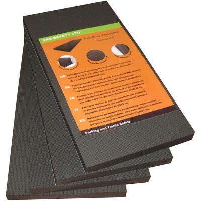 Αυτοκόλλητο αφρώδες προστατευτικό ορθογώνιου σχήματος για τοίχους γκαράζ μαύρο