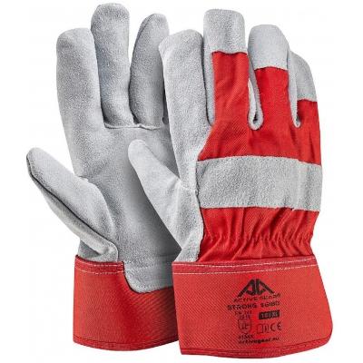 Γάντια Εργασίας Δερματοπάνινα Active Stong S6180