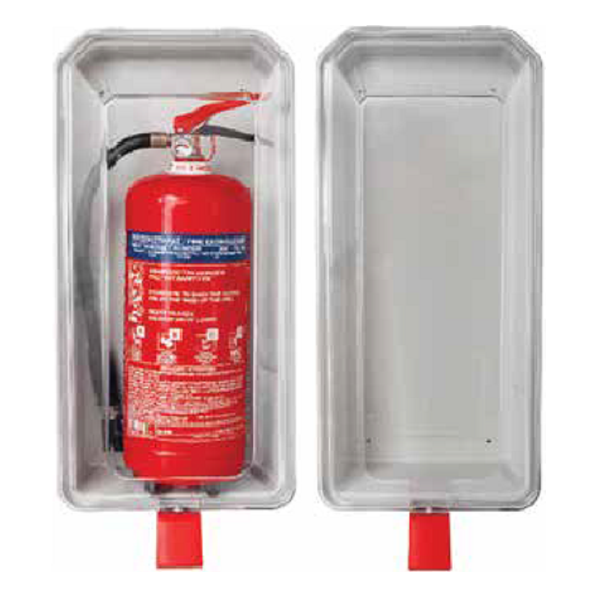 Θήκη πυροσβεστηρα 9kg/12kg ή 9lt διάφανη πλαστική