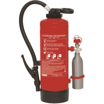 Πυροσβεστήρας 6Kg με Εξωτερικό Φιαλίδιο CO2 150gr
