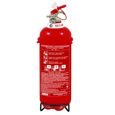 Πυροσβεστήρας 2Kg Ξηράς Σκόνης ABC85 (περιλαμβάνεται βάση και αυτοκόλλητη πινακίδα ένδειξης θέσης)