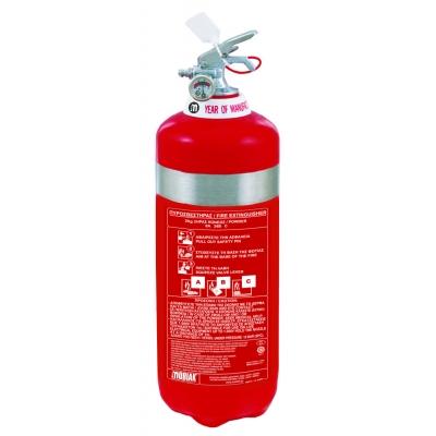 Πυροσβεστήρας 2Kg INOX Ξηράς Σκόνης ABC40