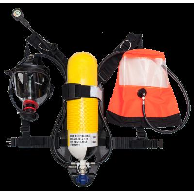 Διπλή Αναπνευστική Συσκευή Πυροσβέστη 6Lt