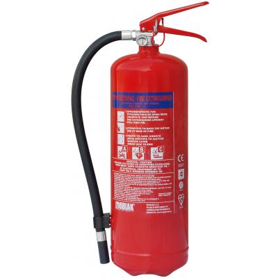 Πυροσβεστήρας 6kg Ξηράς Σκόνης ABC40 VR (περιλαμβάνεται βάση και αυτοκόλλητη πινακίδα ένδειξης θέσης)